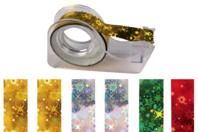 Rubans adhésifs - 6 rouleaux holographiques + dévidoir - Adhésifs colorés et Masking tape - 10doigts.fr