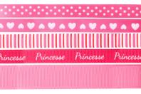 Rubans en camaïeu rose - Set de 5 - Rubans et ficelles - 10doigts.fr