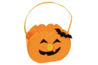 Sac citrouille en feutrine - Halloween - 10doigts.fr