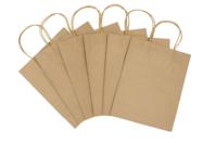 Sacs en kraft Naturel - 6 sacs à poignée - Sacs et Papiers cadeaux - 10doigts.fr
