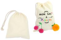 Grand sac coton à cordelette - Coton, lin - 10doigts.fr