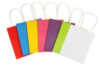 Sacs en kraft - blanc ou couleurs assorties - Papiers Cadeaux - 10doigts.fr
