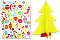 Sapin 3D à décorer avec des gommettes - Kits activités Noël - 10doigts.fr