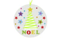 Kit Sapin de Noël à tisser - Suspensions et boules de Noël - 10doigts.fr
