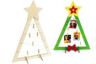 Sapin porte-photo à monter - Kits d'activités Noël - 10doigts.fr