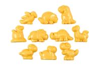 Moules dinosaure en plastique - Set de 10 - Moules pour plâtre, savon, béton ... - 10doigts.fr