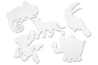 Silouhettes Animaux de la jungle - 16 formes - Supports blancs - 10doigts.fr