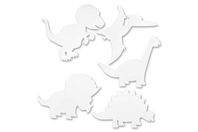 Silhouettes Dinosaures - 16 formes - Supports blancs - 10doigts.fr