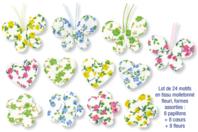 Motifs en tissu molletonné fleuri - Set de 24 pièces - Motifs en tissu molletonné - 10doigts.fr