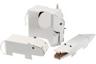 Animaux géants à décorer - Set de 3 - Supports blancs - 10doigts.fr