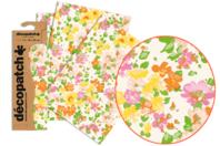 Papier Décopatch fleuris - 3 feuilles N°776 - Papiers Décopatch - 10doigts.fr