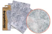 Papier Décopatch Béton - 3 feuilles N°791 - Papiers Décopatch - 10doigts.fr