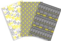Papiers à encoller motifs géométriques - 3 feuilles - Papiers Vernis-collage - 10doigts.fr