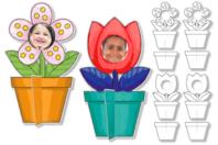 Cadres photo fleurs à colorier - 16 cadres - Supports pré-dessinés - 10doigts.fr