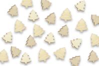 Sapins en bois - Lot de 50 - Motifs bruts - 10doigts.fr