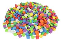 Mosaïques colorées en mousse - 500 pièces - Décorations à coller - 10doigts.fr