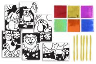 Cartes à métalliser Animaux - 6 cartes assorties - Kits créatifs en Papier - 10doigts.fr