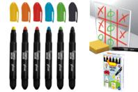 Crayons cire pour vitres et fenêtres - 4 ou 6 couleurs - Crayons cire - 10doigts.fr