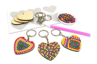 Kit porte-clés diamants - Lot de 6 - Porte-clés pour bijoux - 10doigts.fr