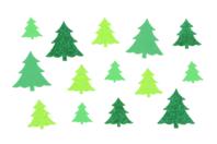Sapins adhésifs caoutchouc mousse pailleté - 60 stickers - Gommettes et stickers Noël - 10doigts.fr