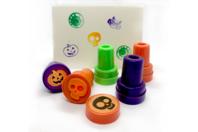 Tampons Halloween colorés - Set de 9 - Halloween - 10doigts.fr