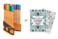 Feutres Stabilo Point 88 + Cahier coloriage OFFERT - Feutres pointes fines - 10doigts.fr