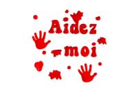 "Stickers gel vitrostatiques ""aidez moi"" - Halloween - 10doigts.fr"
