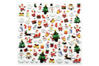 Stickers Noël 3D - 94 stickers - Gommettes Noël - 10doigts.fr