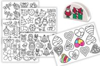 Stickers transparents à colorier - Thèmes au choix - Gommettes à colorier, à gratter - 10doigts.fr