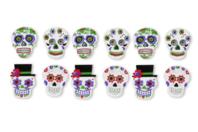 """Stickers """"Calaveras"""" mexicaines - 12 pièces - Formes en Mousse autocollante - 10doigts.fr"""