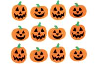 Stickers citrouille en feutrine - Halloween - 10doigts.fr