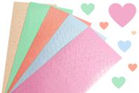 Stickers coeurs couleurs pastel - 795 stickers - Coeurs autocollants - 10doigts.fr