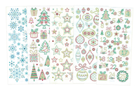 Stickers cristal Noël - 160 stickers - Stickers strass, cabochons - 10doigts.fr