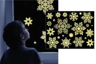 Stickers de Noël phosphorescents repositionnables - Set de 22 stickers - Gommettes et stickers Noël - 10doigts.fr