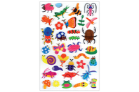 Stickers insectes 3D - 34 stickers - Gommettes Animaux - 10doigts.fr