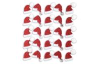 Stickers pailletés bonnet de Père Noël  - Set de 25 - Gommettes et stickers Noël - 10doigts.fr