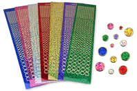 Stickers strass - Set de 1925 - Stickers strass, cabochons - 10doigts.fr