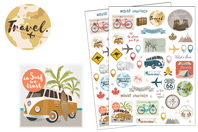 Stickers Voyages et vacances - 104 stickers - Stickers Fantaisies - 10doigts.fr