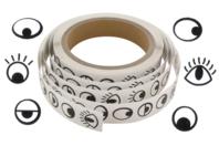 Gommettes yeux fantaisie noirs - 1000 Stickers - Gommettes Yeux et Visages - 10doigts.fr