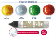 Stylos peinture 3D pailletées - 30 ml - Stylos peinture 3D - 10doigts.fr