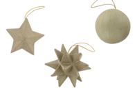 Décos de Noël en carton papier mâché à suspendre - Supports de fêtes en carton - 10doigts.fr