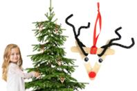 Suspensions mini rennes - Kit pour 6 créations - Kits activités Noël - 10doigts.fr