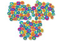 Tampons en caoutchouc mousse multi thèmes - Set de 102 - Tampon dessin - 10doigts.fr