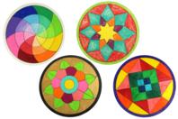 Dessous de plat puzzle en bois - Set de 4 modèles - Puzzle à colorier, dessiner ou peindre - 10doigts.fr