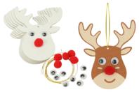 Suspension renne de Noël - Suspensions et boules de Noël - 10doigts.fr