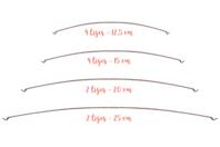 Tiges métalliques pour mobile - Set de 12 - Supports pour mobiles - 10doigts.fr