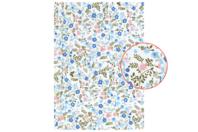 Tissu adhésif fleuri bleu et rose - Tissus adhésifs - 10doigts.fr