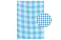Tissu adhésif vichy bleu - Tissus adhésifs - 10doigts.fr