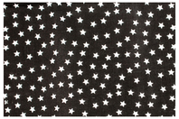 Coupon en coton imprimé : étoiles blanches + fond noir - Coton, lin - 10doigts.fr