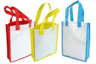 Sacs à personnaliser colorés - 6 sacs - Support textile à customiser - 10doigts.fr
